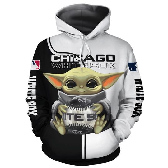 Baby Yoda Chicago white sox 3d all over print hoodie2