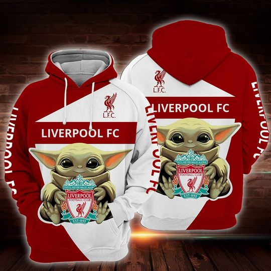 Baby Yoda liverpool 3d all over print hoodie