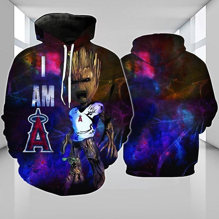 Baby groot Los angeles angels 3d hoodie - LIMITED EDITION