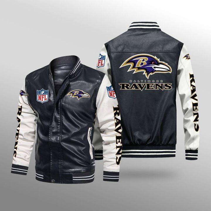 Baltimore Ravens Leather Bomber Jacket - LIMITED EDITION