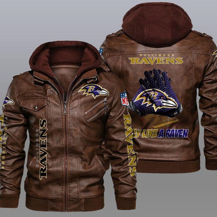 NFL Baltimore Ravens leather jacket - LIMITED EDITION