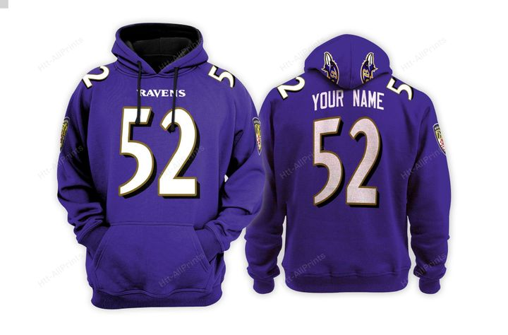 Baltimore ravens custom name hoodie - LIMITED EDITION