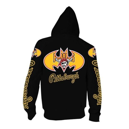 3D BatMan Pittsburgh pirates 3d all over print hoodie - LIMITED EDITION