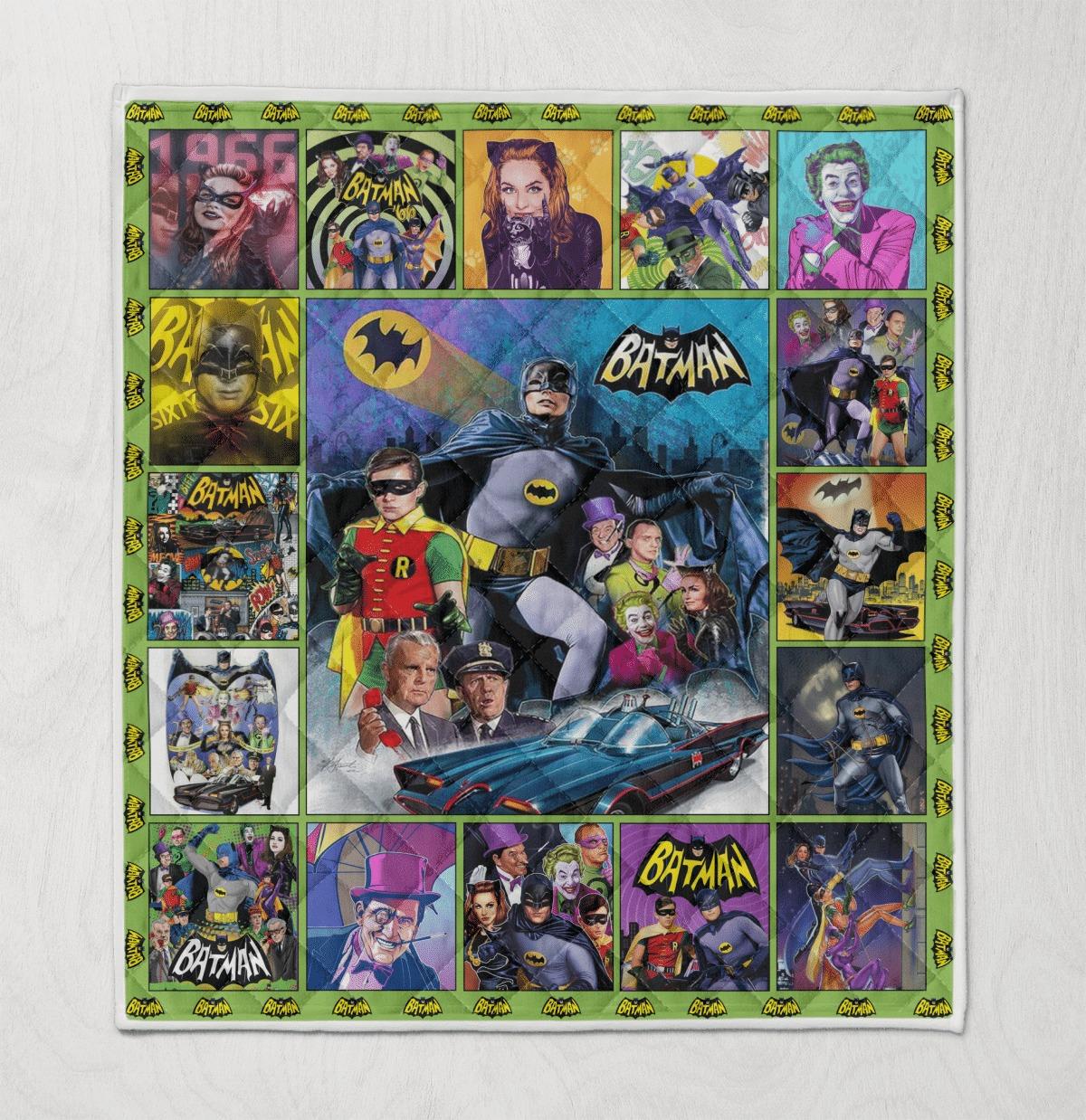 Batman 1966 tv series quilt blanket 1