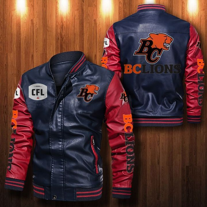 Bc Lions Leather Bomber Jacket - LIMITED EDITION
