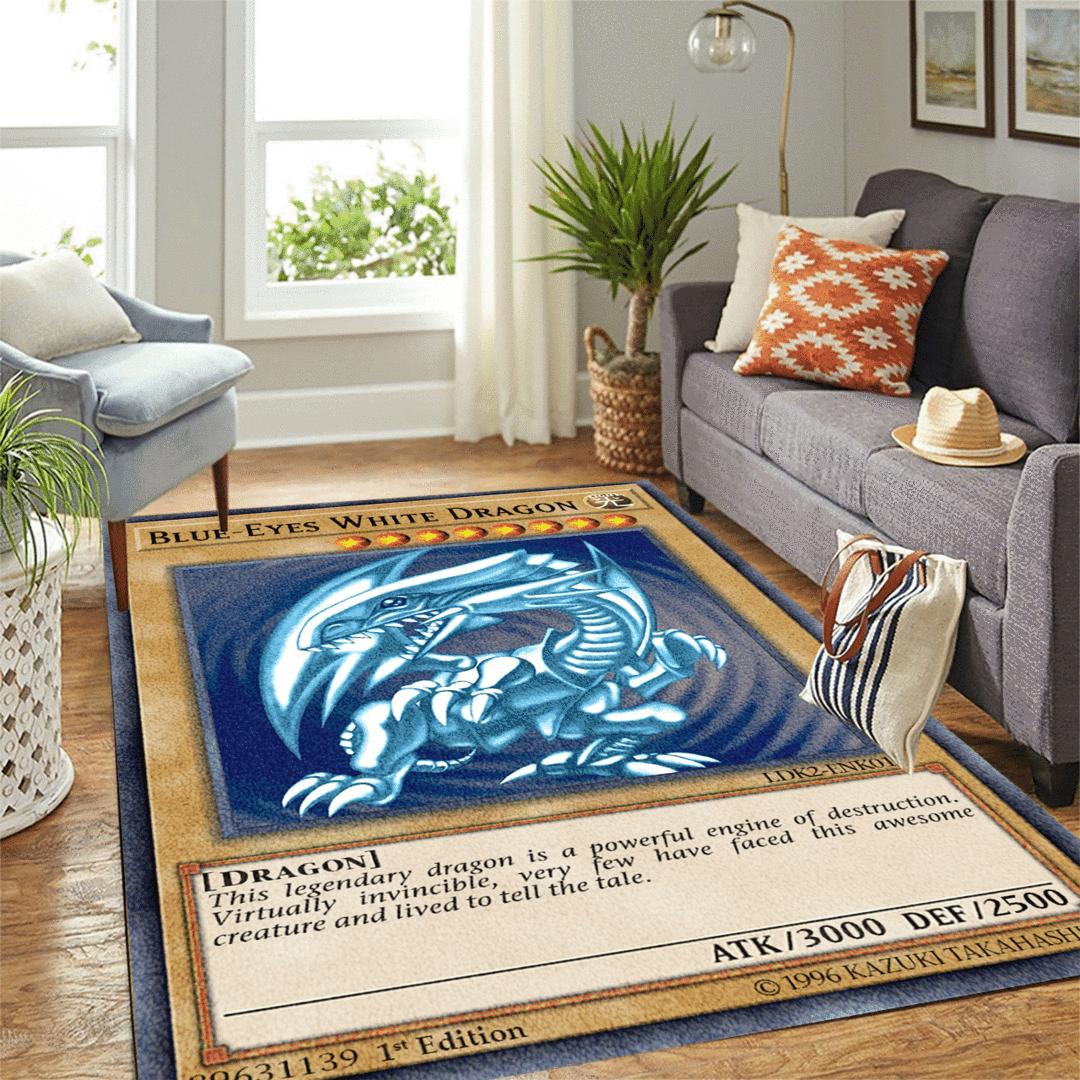 Blue-Eyes White Dragon card rug-3