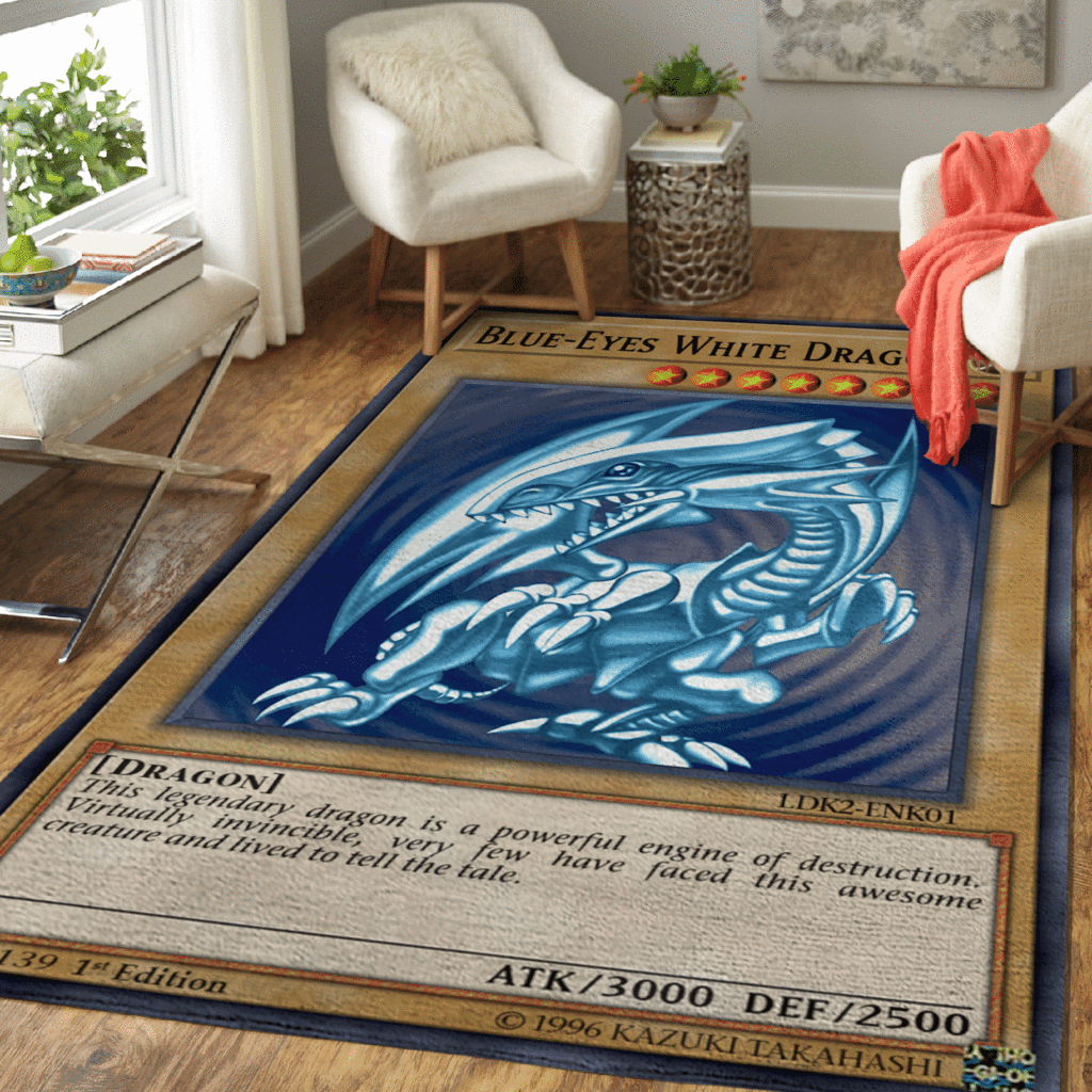 Blue-Eyes White Dragon rug - LIMITED EDITION