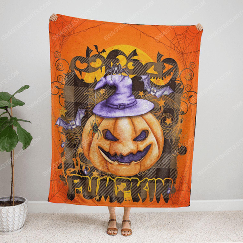 Boo boo pumpkin halloween blanket 2