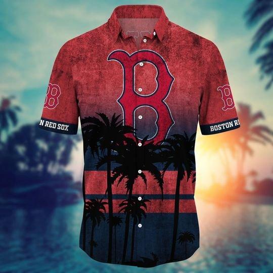 Boston Red Sox MLB Summer Hawaiian Shirt, short -BBS
