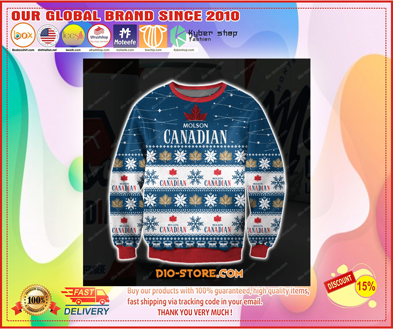 3D ALL OVER PRINT MOLSON CANADIAN UGLY CHRISTMAS SWEATER