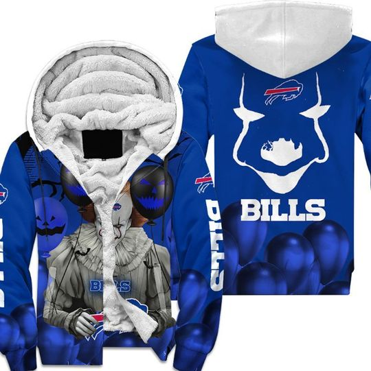 Buffalo bills pennywise the dancing clown it halloween 3d all over print hoodie3