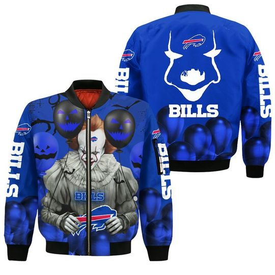 Buffalo bills pennywise the dancing clown it halloween 3d all over print hoodie - LIMITED EDITION