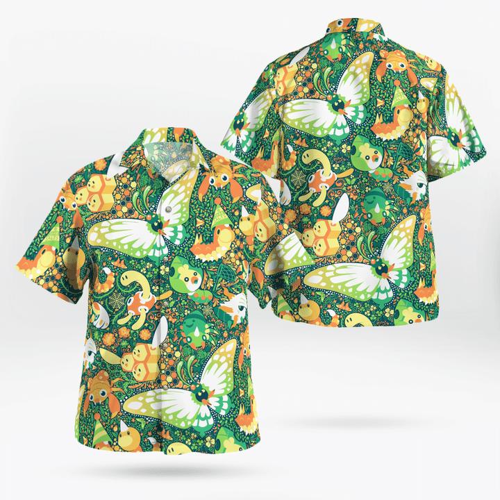 Bug pokémon hawaiian shirt