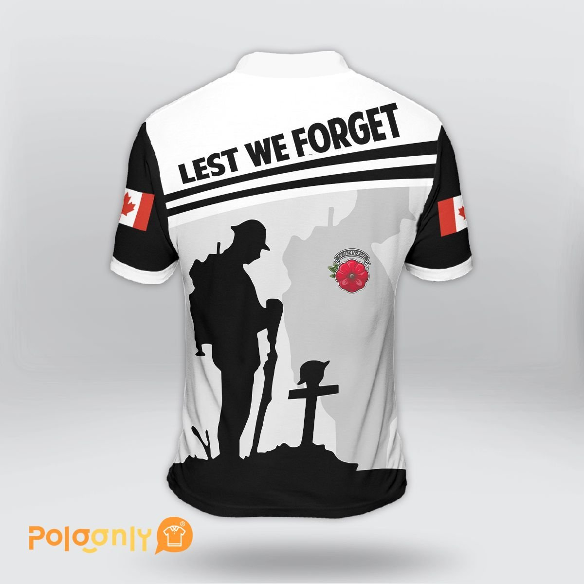 Canada Veteran Lest We Forget Polo Shirt - LIMITED EDITION