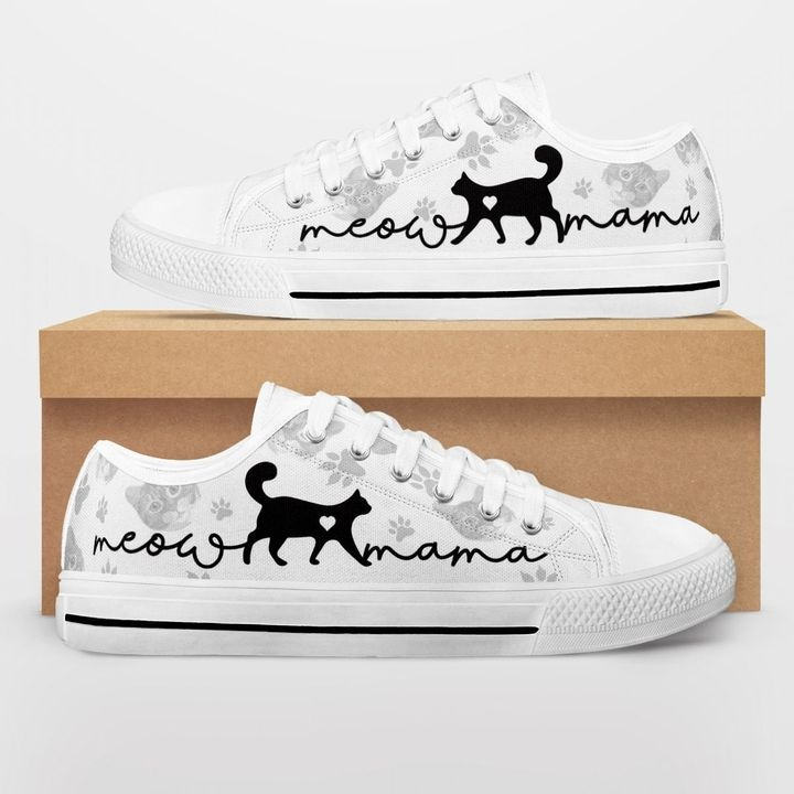 Cat lovers meow mama low top shoes - Hothot 090921