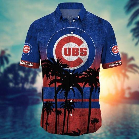 Chicago Cubs MLB Summer Hawaiian Shirt, short -BBS