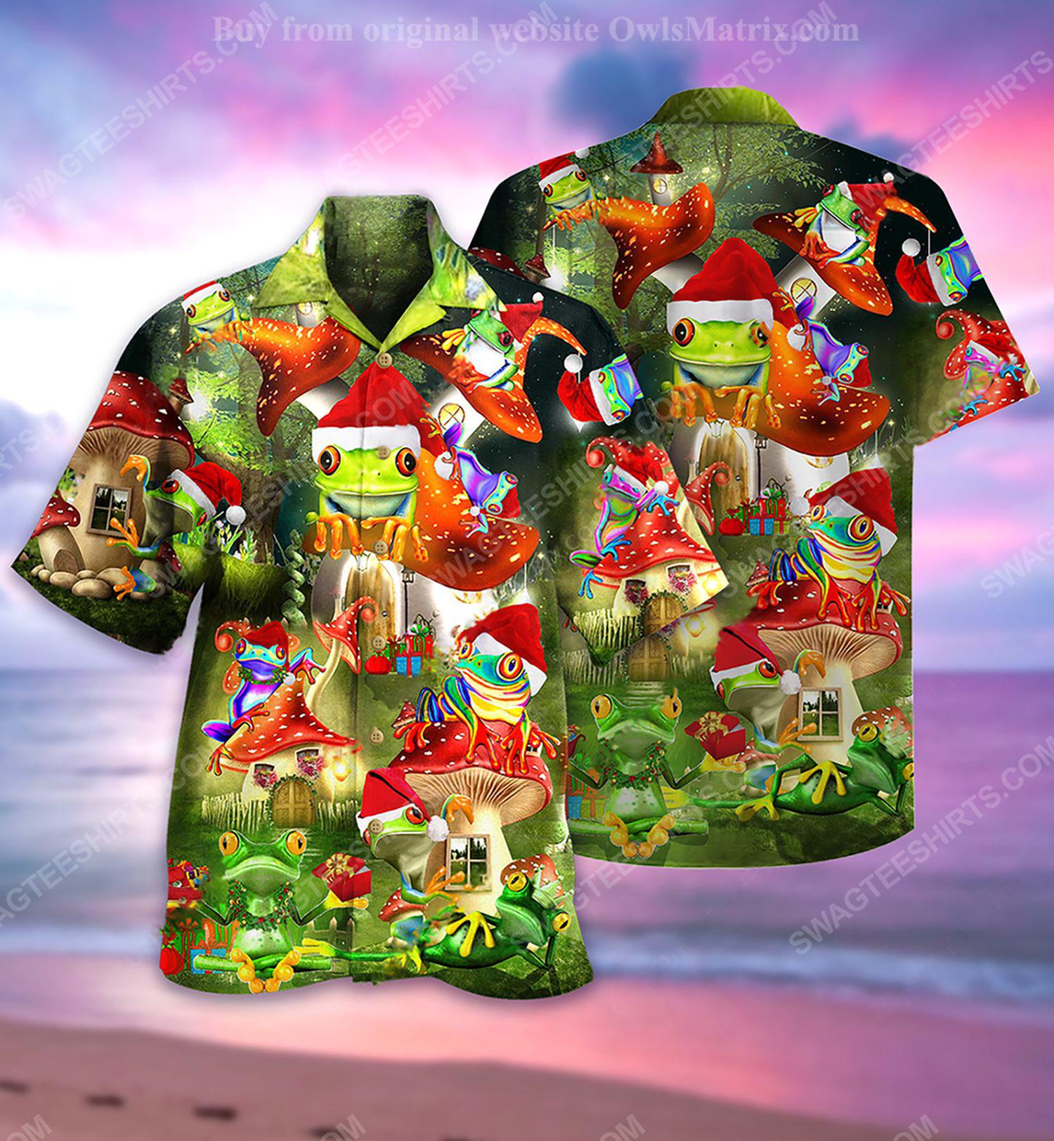Christmas holiday and frog full print hawaiian shirt 1 - Copy (2)