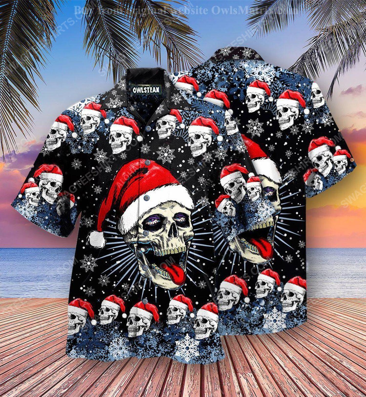 Christmas holiday and naughty skull full print hawaiian shirt 1 - Copy (2)