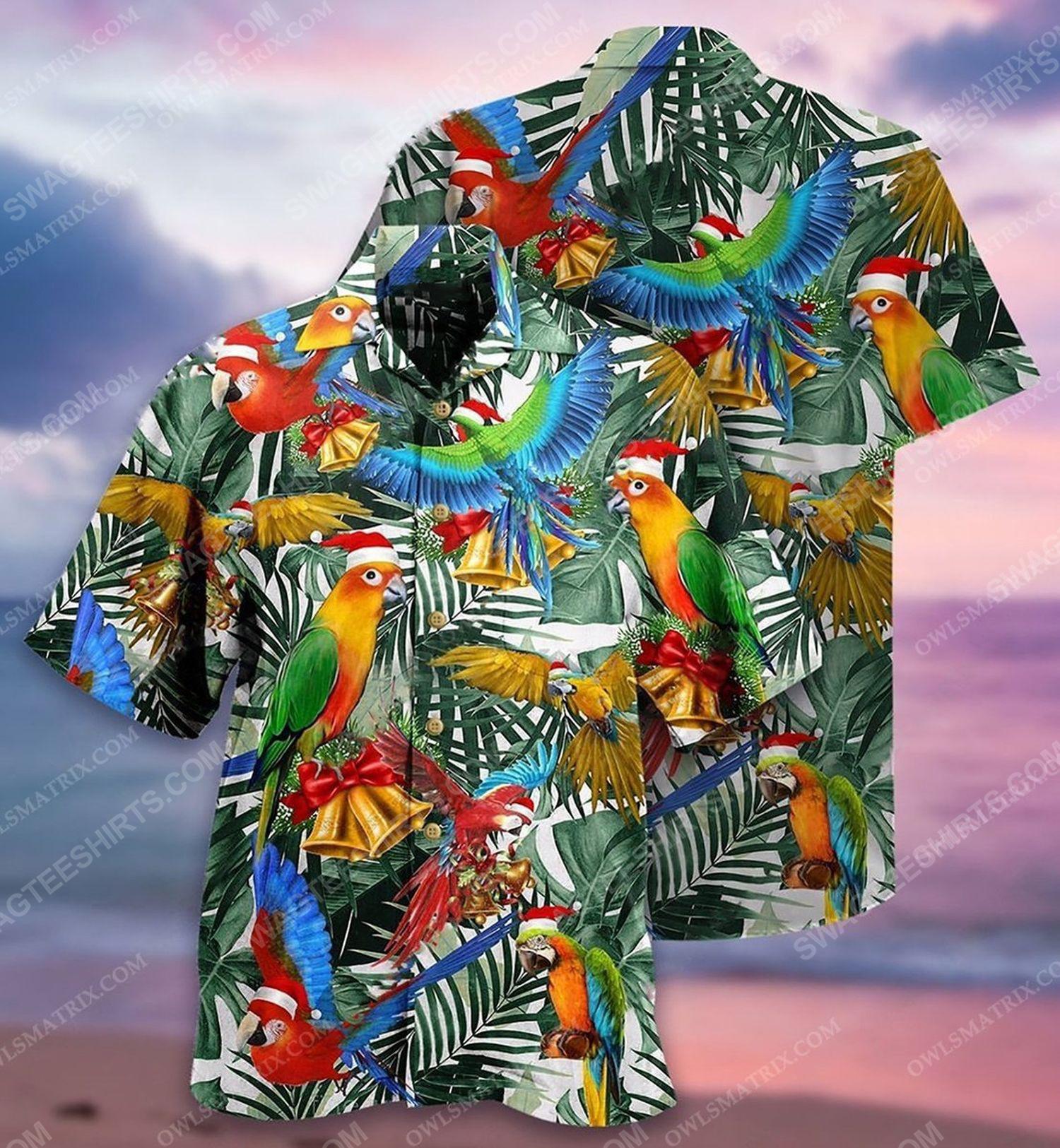 Christmas holiday and parrot full print hawaiian shirt 1 - Copy (2)