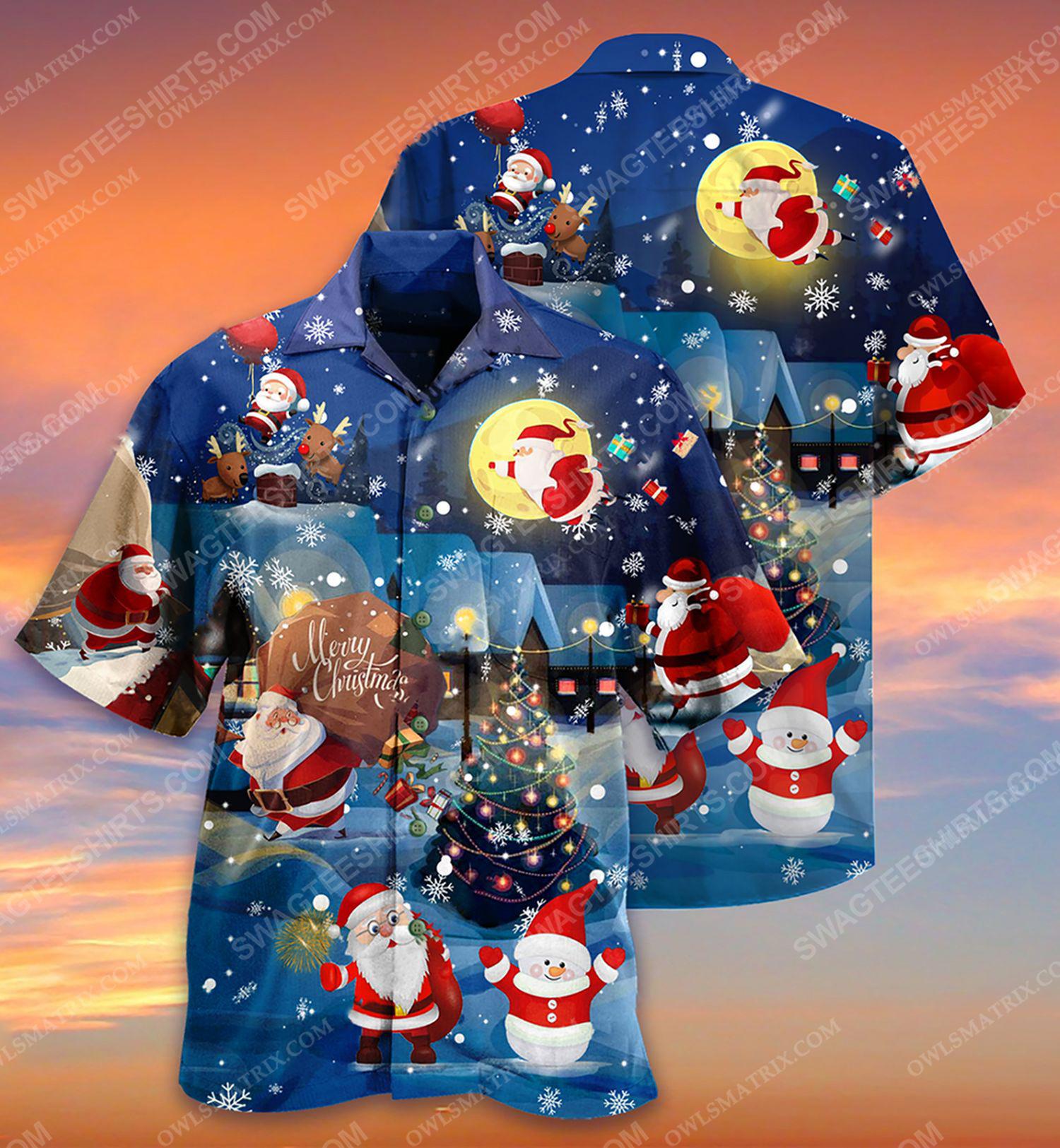 Christmas holiday love santa and gift full print hawaiian shirt 1 - Copy (2)