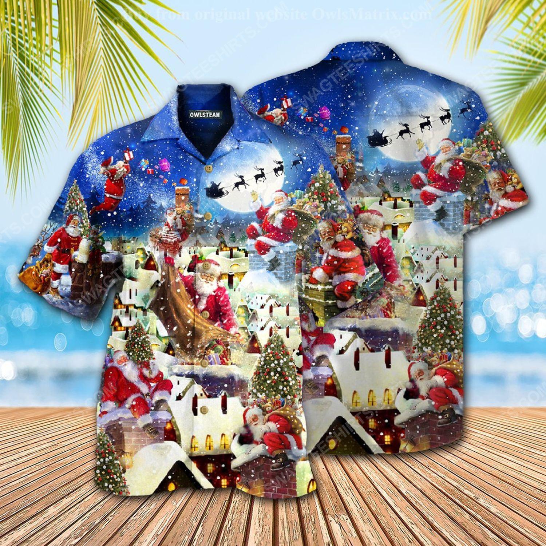 Christmas holiday santa claus can deliver presents hawaiian shirt 1 - Copy (2)