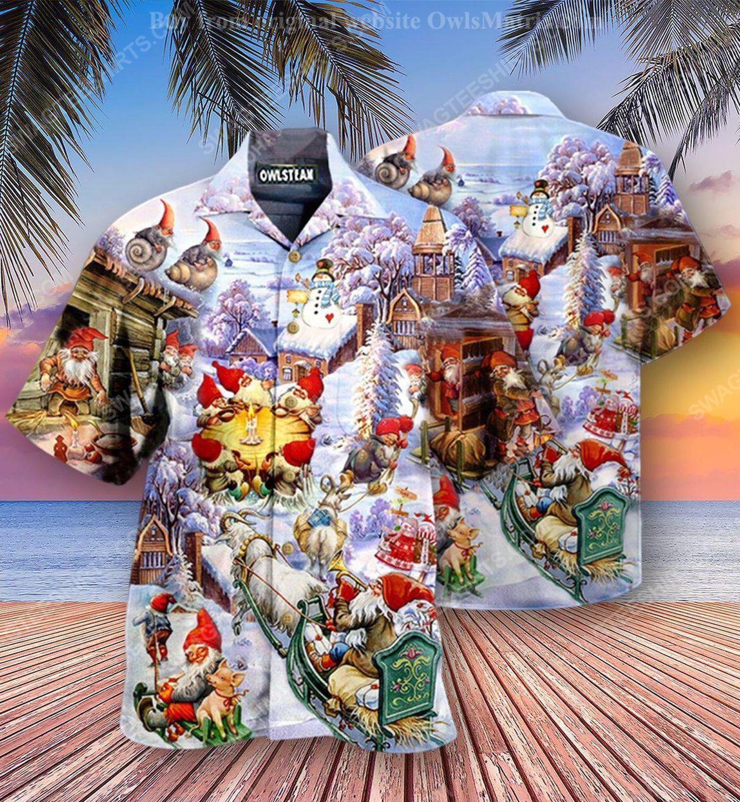 Christmas holiday santa gnomes full print hawaiian shirt 1 - Copy (2)