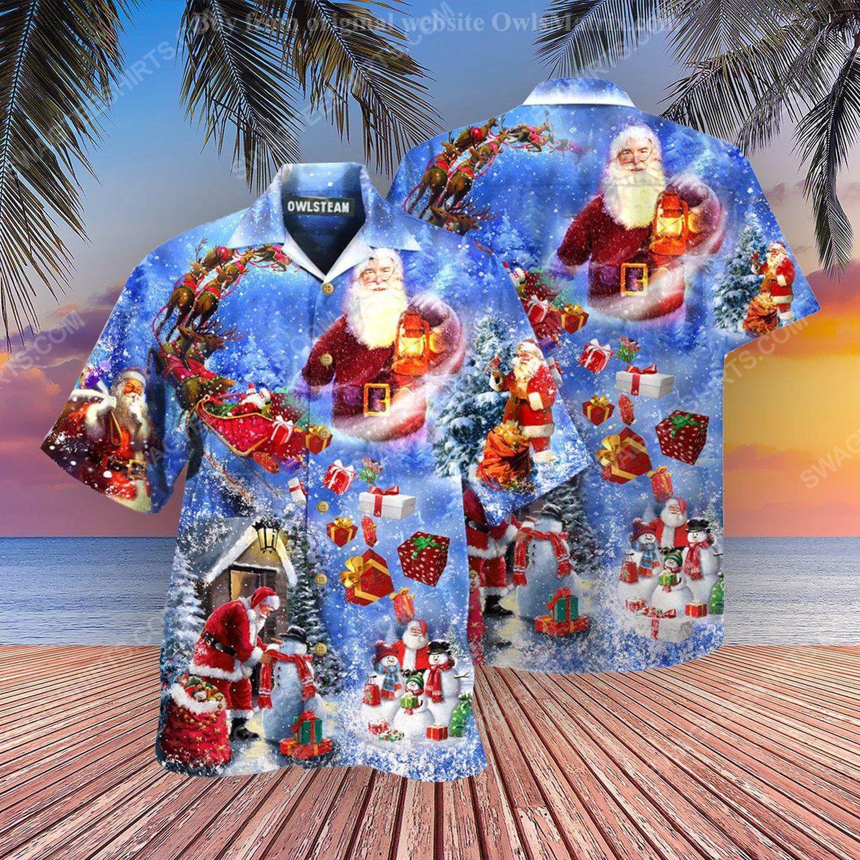 Christmas holiday santa is coming town full print hawaiian shirt 1 - Copy (2)