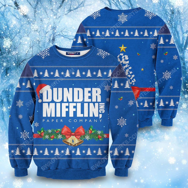Christmas the office dunder mifflin holiday ugly christmas sweater 1