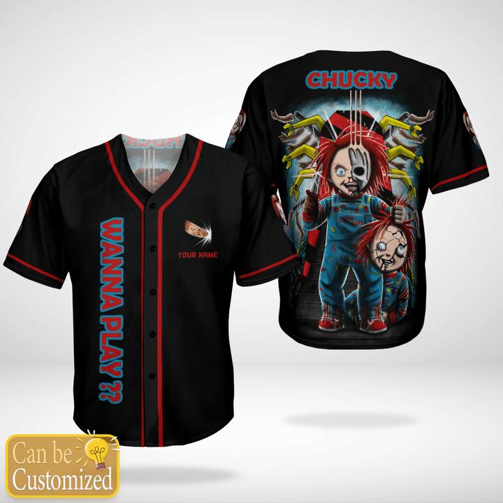 Chucky I Wanna Play Custom Name Baseball Jersey Shirt - LIMITED EDITION