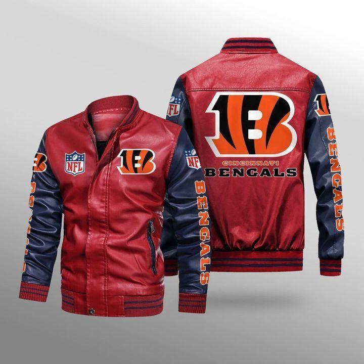 Cincinnati Bengals Leather Bomber Jacket - LIMITED EDITION