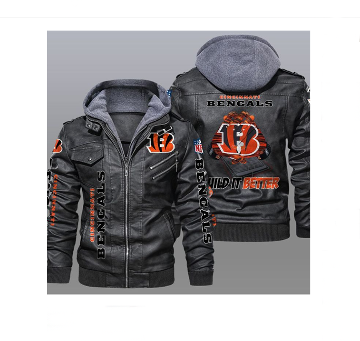 Cincinnati Bengals Wild It Better Leather Jacket - LIMITED EDITION