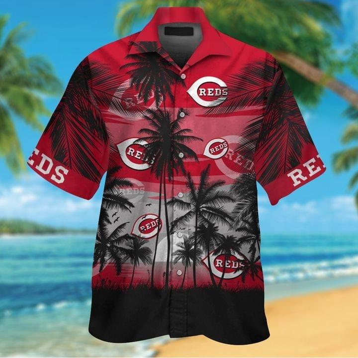 Cincinnati Reds Tropical Short Sleeve Hawaiian Shirt