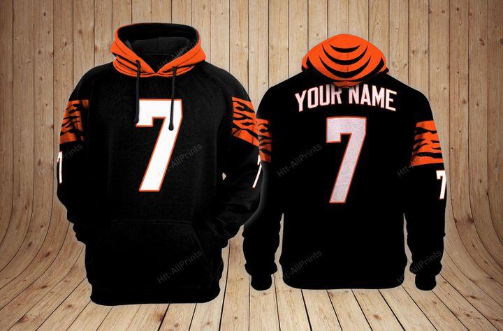 Cincinnati bengals custom name hoodie - LIMITED EDITION