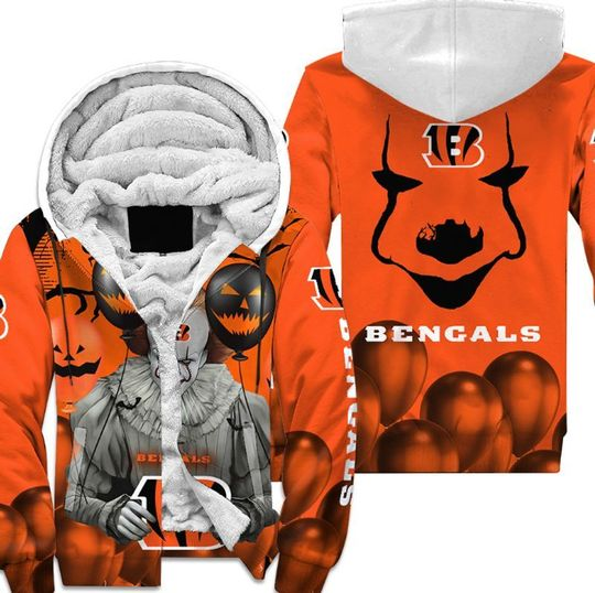Cincinnati bengals pennywise the dancing clown it halloween 3d all over print hoodie4