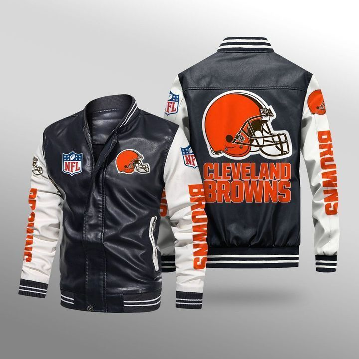 Cleveland Browns Leather Bomber Jacket - LIMITED EDITION