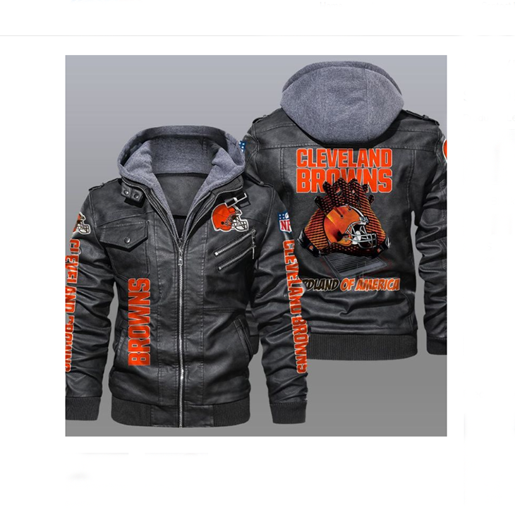 Cleveland Browns Redlands Of America Leather Jacket - LIMITED EDITION
