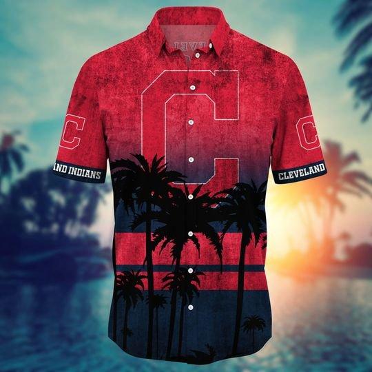 Cleveland Indians MLB Summer Hawaiian Shirt, short -BBS