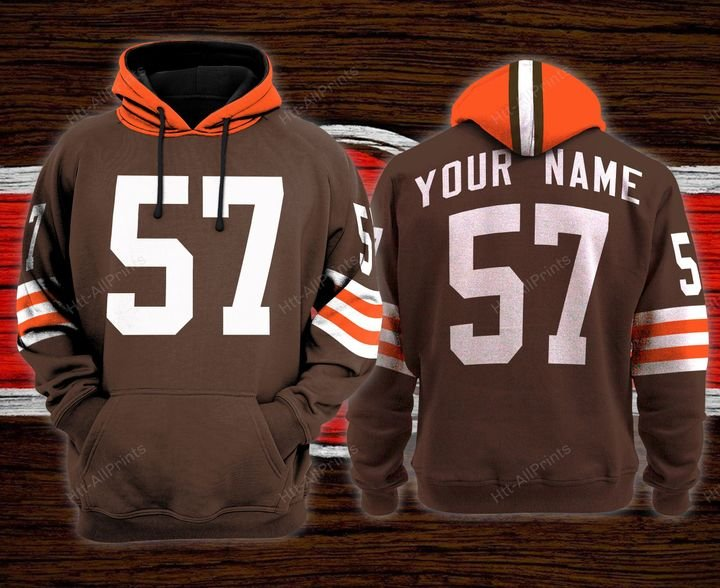 Cleveland browns custom name baseball hoodie - LIMITED EDITION