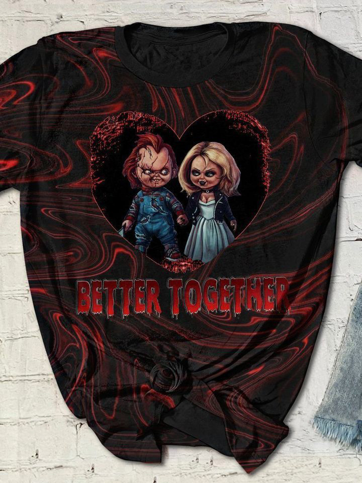 Couple Chucky And Tiffany Better Together 3D Full Print Shirt