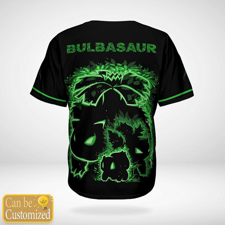 Pokemon Bulbasaur Custom Name Baseball Jersey - LIMITED EDITION