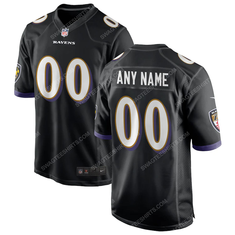 Custom baltimore ravens football full print football jersey-black
