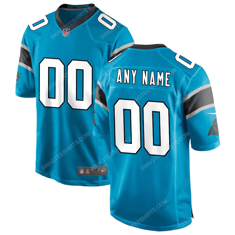 Custom carolina panthers team full print football jersey - blue
