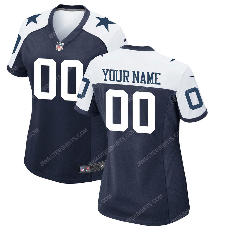 Custom dallas cowboys football team full print football jersey-navy
