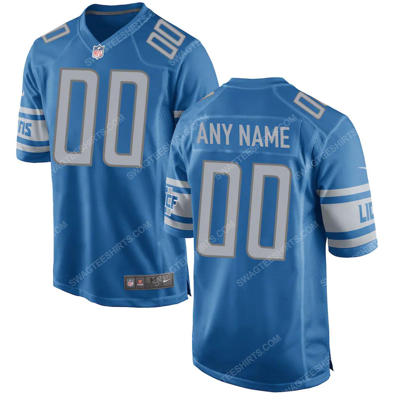 Custom detroit lions football full print football jersey-blue