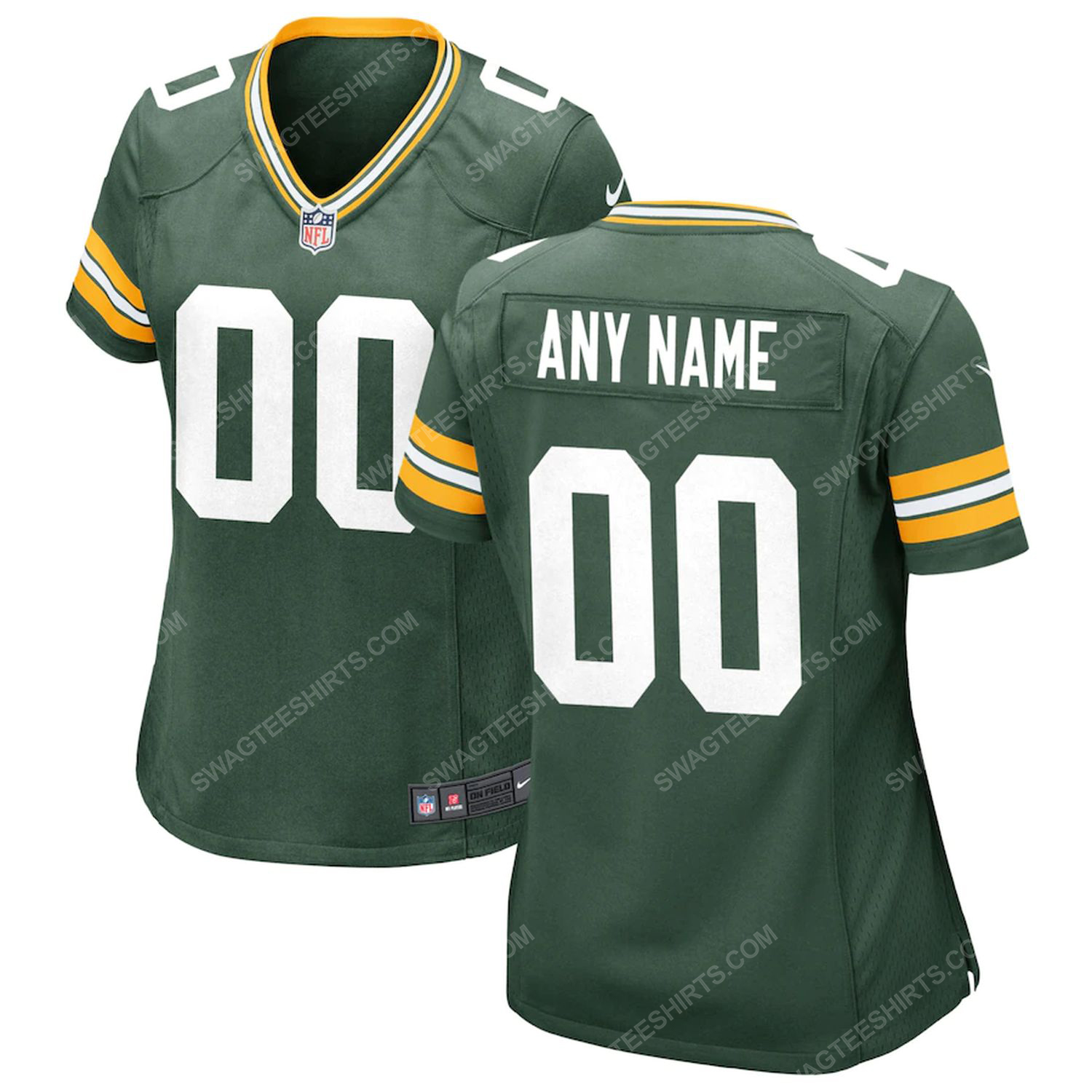 Custom green bay packers all over printed football jersey - green