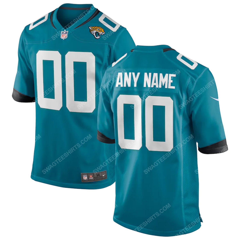 Custom jacksonville jaguars team full print football jersey - teal