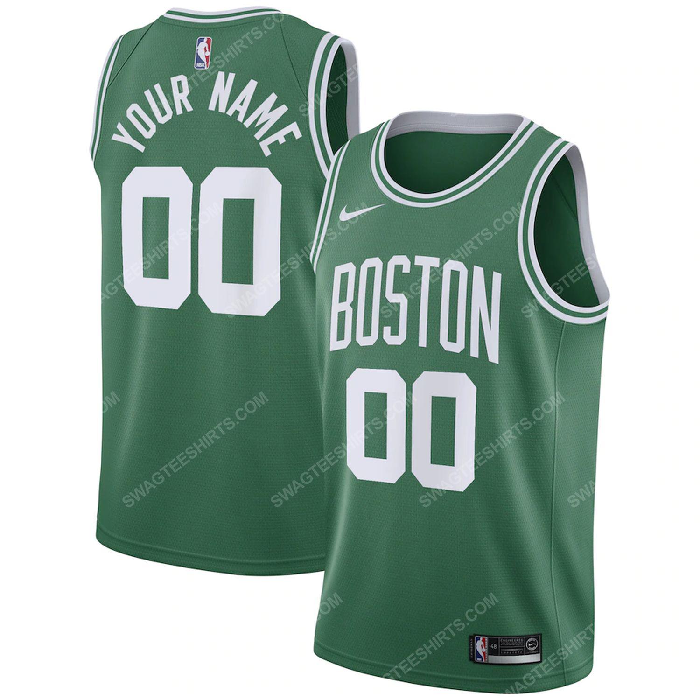 Custom name boston celtics full print basketball jersey
