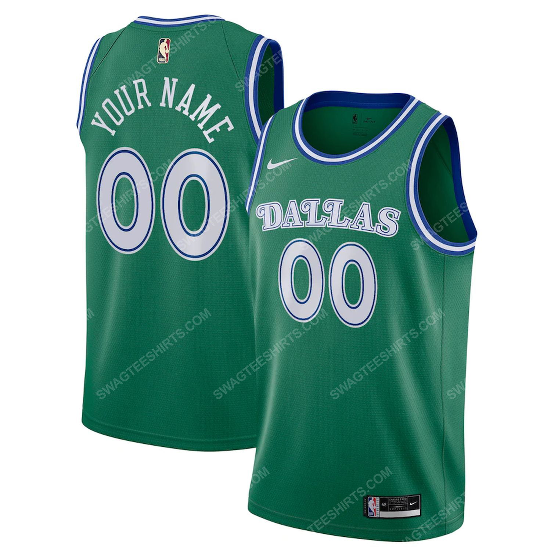 Custom name dallas mavericks full print basketball jersey