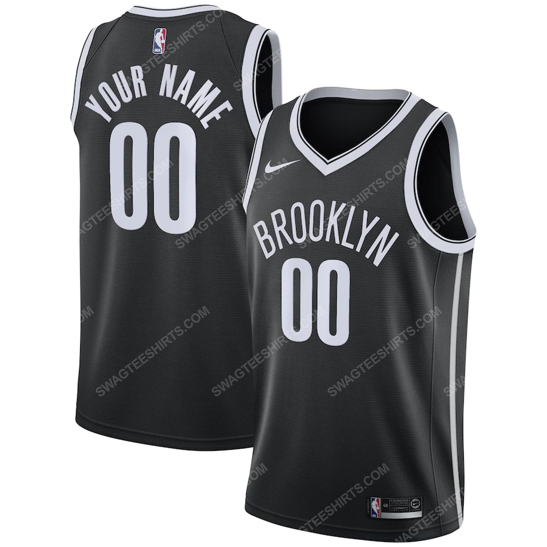 Custom nba brooklyn nets team basketball jersey-icon edition-black