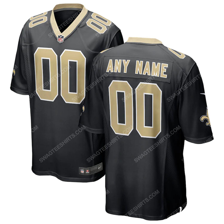 Custom new orleans saints football team full print football jersey-black